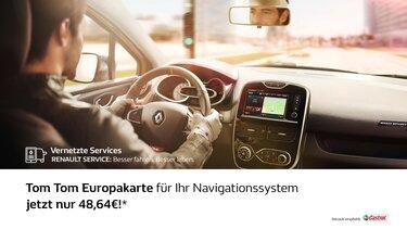 TomTom Europakarte auf Display von Renault Navigationssystem