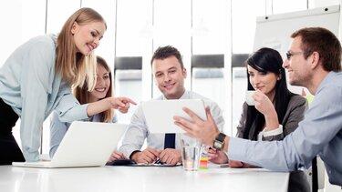 Mitarbeiter im Meeting