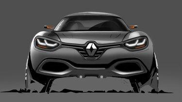 Renault Captur Concept Car Skizze
