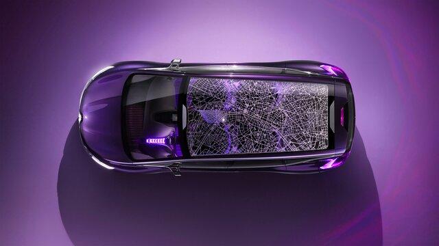 Renault INITIALE PARIS Concept Car Blick auf das Schiebedach