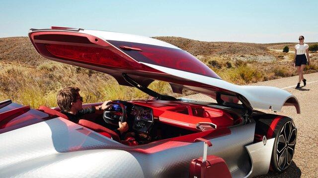 Renault TREZOR Concept Car mit offenem Dach