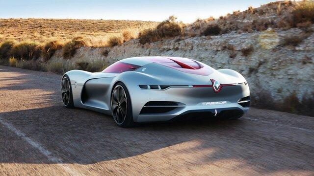 Fahrender Renault Trezor Concept Car