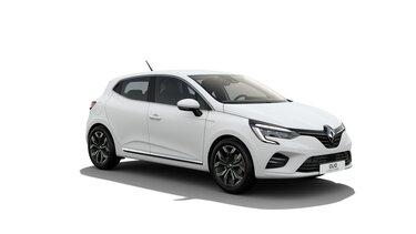 Clio Hybrid in Weiß