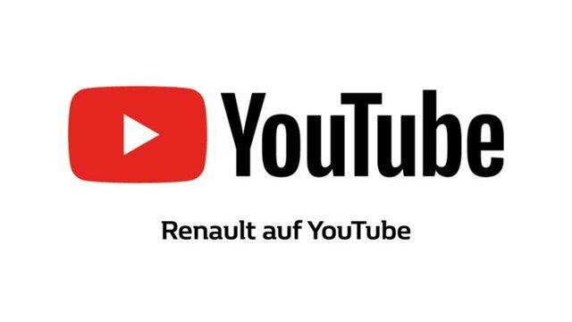 YouTube Logo mit Unterschrift