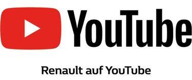 YouTube Logo mit Renault auf YouTube Unterschrift