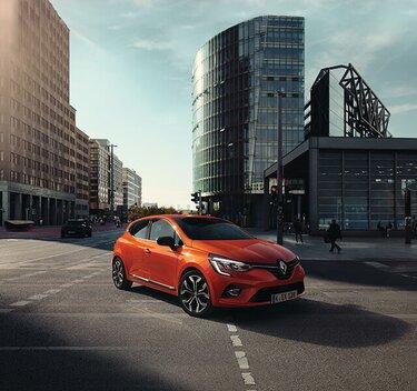 CLIO Kleinwagen orangefarbenes Außendesign