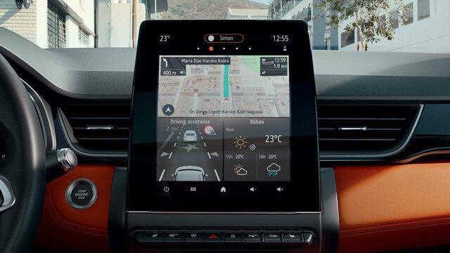Das smarte EASY LINK Cockpit im Renault Captur