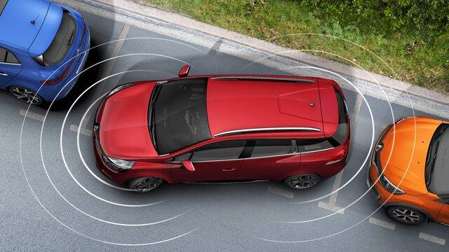 Die Renault Clio Grandtour Einparkhilfe