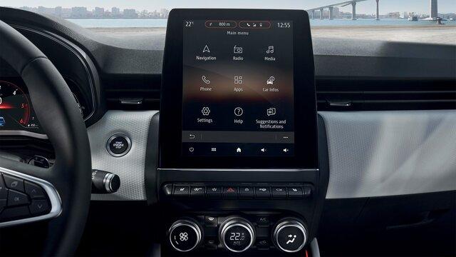 Das Touch-Display des Renault Clio