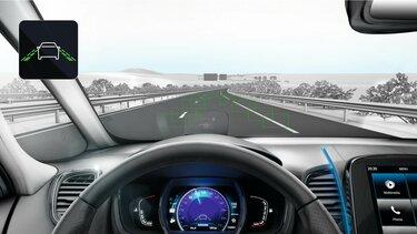 Die intelligenten Fahrerassistenzsysteme im Renault Espace - Spurhaltewarner