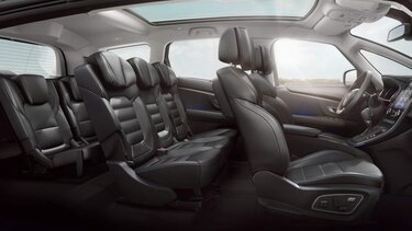 Sitzkomfort auf allen Plätzen im Renault Grand Scénic