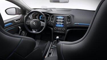 Cockpit und Komfortsitze im Renault Mégane