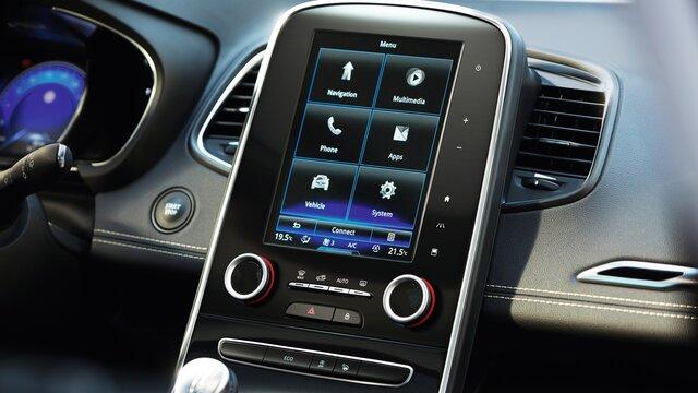 Das Online-Infotainmentsystem R-LINK 2 mit Navigationsfunktion und Europakarte im Renault Scénic