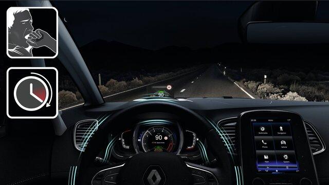 Die intelligenten Fahrerassistenzsysteme im Renault Scénic - Notbremsassistent