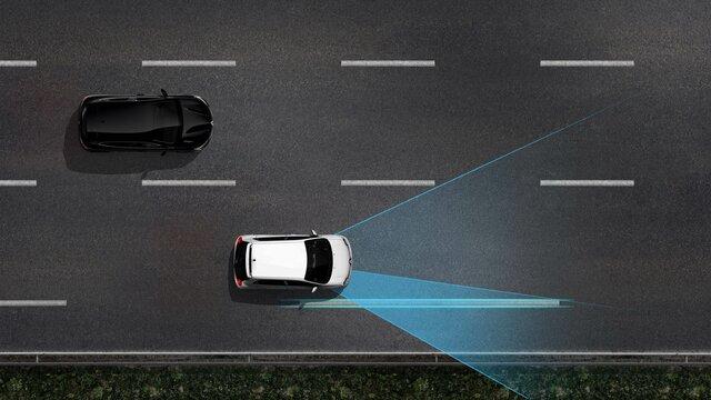 Grafik der innovativen Sicherheitssysteme von Renault - Das Renault Fahrassistenzsystem