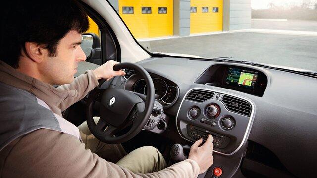 Das Online-Multimediasystem Renault R-LINK Evolution im Renault Kangoo Z.E.