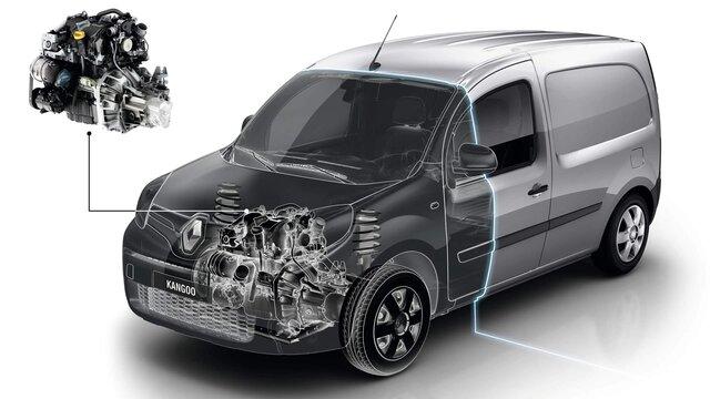 3d-CAD-Zeichnung vom Renault Kangoo Rapid