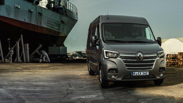 Der Renault Master im Hafen