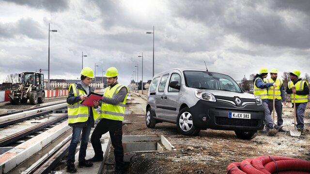 Renault Kangoo Rapid auf einer Baustelle
