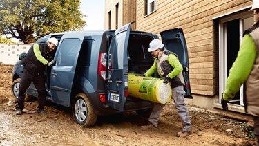 Der Renault Kangoo Z.E. auf der Baustelle