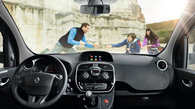 Das Cockpit des Renault Kangoo