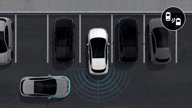 Grafik der intelligenten Renault Assistenzsysteme - Einparkhilfe