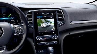 Die Rückfahrkamera im Renault Megane Grandtour Plug-in Hybrid