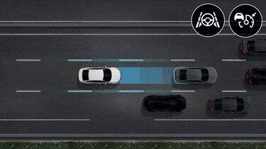 Grafik der Renault Assistenzsysteme - Easy-Park-Assistent