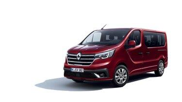 Der neue Renault TRAFIC Combi in Karminrot 3/4-Frontansicht