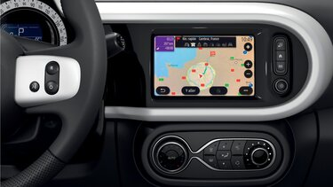 Das Easy Link Display im Renault Twingo Electric