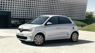 Weißer Renault TWINGO in Seitenansicht