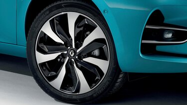 Renault ZOE E-Tech schwarze Leichtmetallräder