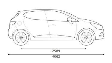 Renault CLIO dimensions