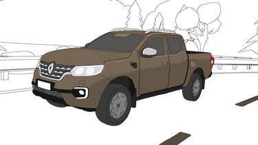 Renault Alaskan coloriage