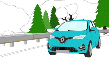 Renault Zoe coloriage