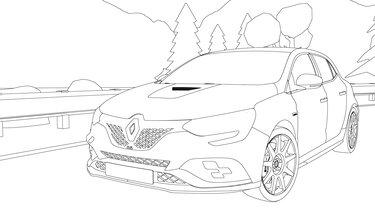 Renault Megane coloriage
