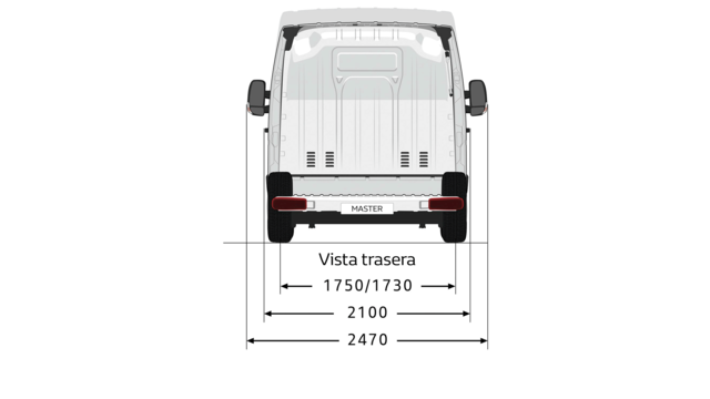 Renault MASTER Z.E. medidas traseras