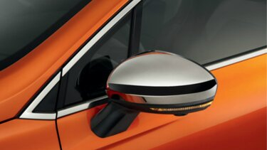 Carcasa de retrovisor cromada CLIO