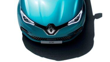Renault ZOE faros y capó