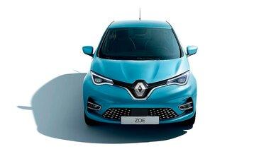Renault ZOE azul parte delantera