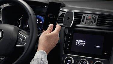 Renault accesorios Soporte magnético para smartphone con inducción sobre aireación