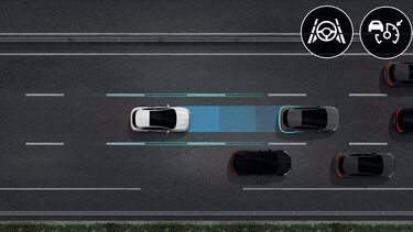 Nouvelle MEGANE, Conduite semi-autonome avec l'assistant autoroute et trafic