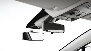 Double rétroviseur intérieur véhicule auto-école