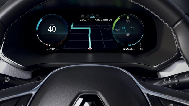 Renault CAPTUR Hybride rechargeable,  tableau de bord numérique 10''