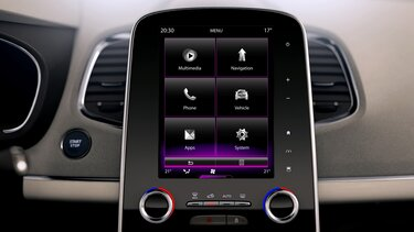 Renault e-guide - Console R-LINK 2 verticale