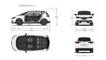 Renault SCENIC dimensions