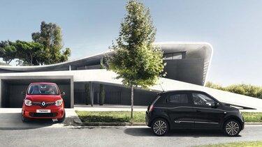 Renault TWINGO rouge coté gauche