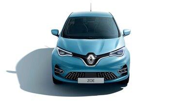 Renault ZOE bleue face avant