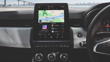 CLIO interior touchscreen tablet