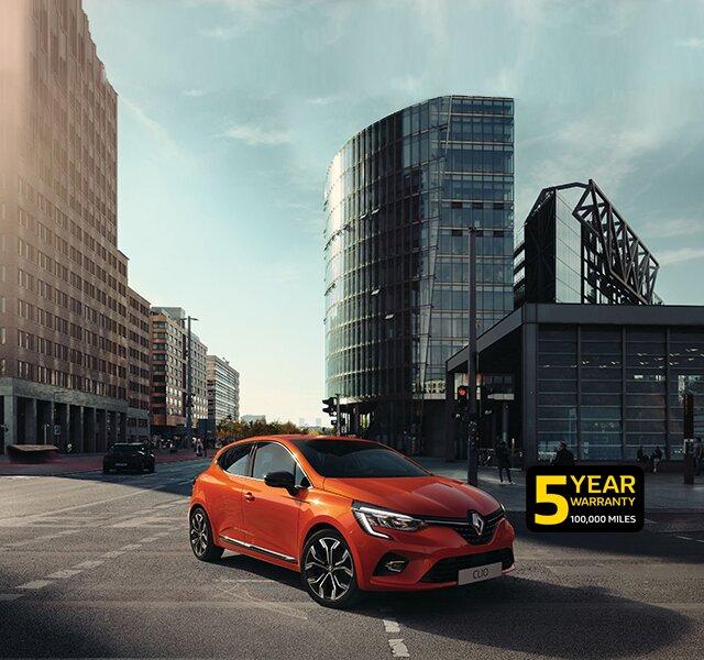 CLIO small car orange exterior